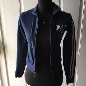 Juicy Couture girls size small zip up sweater